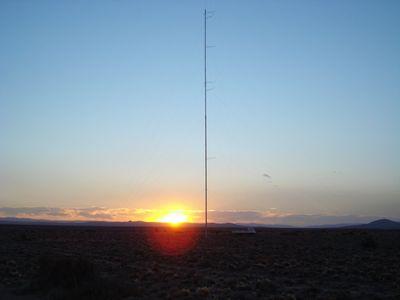 Mastil Meteorologico en Santa Cruz